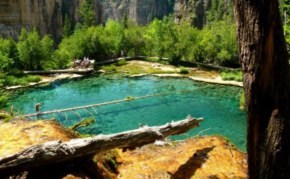 View from above Hanging Lake