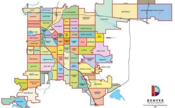 Neighborhood Map - City And