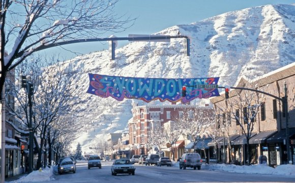 Snowy downtown Durango, CO