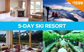 2-person 5-day skiing Resort Package