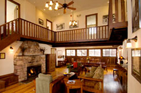 breathtaking interior of this Lodge within Colorado Chautauqua, The Colorado Vacation Directory