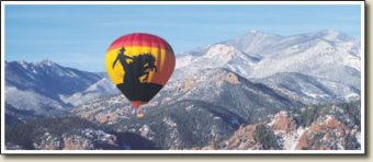 Colorado Springs hot air balloon flights at Pikes Peak