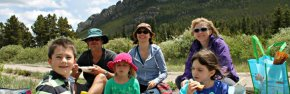 Family at Lily Lake in RMNP