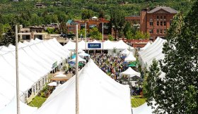 Festival tents at Aspen Food & Wine Timeless, Aspen, CO