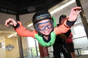 Indoor skydiving at SkyVenture Colorado outside Denver in Lone Tree, CO