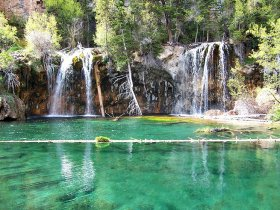The exquisite Hanging Lake near Glenwood Springs.