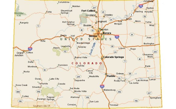 Colorado Tourism Map