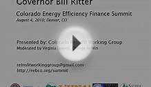 Colorado Governor Bill Ritter: Colorado Energy Efficiency