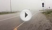 Colorado springtime hail storm 6/24/15, Brush Colorado